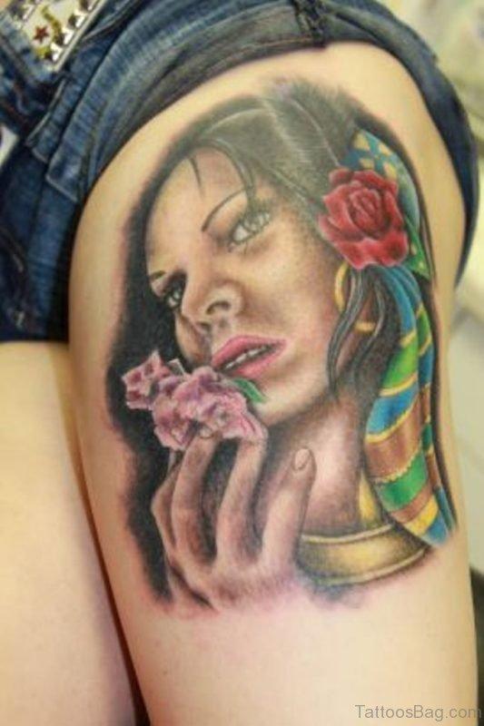 Girls Portrait Tattoo Desgin