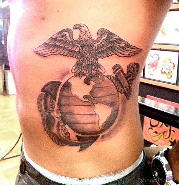 Globe And Eagle Tattoo