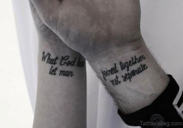 God Quote Tattoo