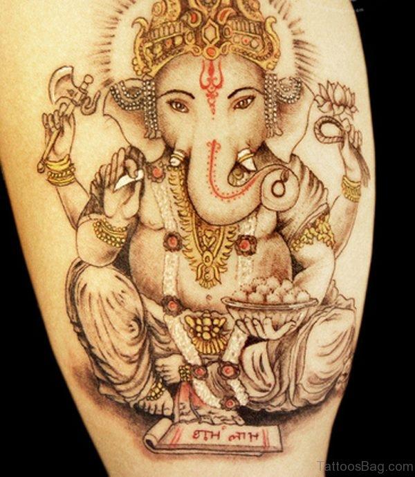 Good Looking Ganesha Tattoo
