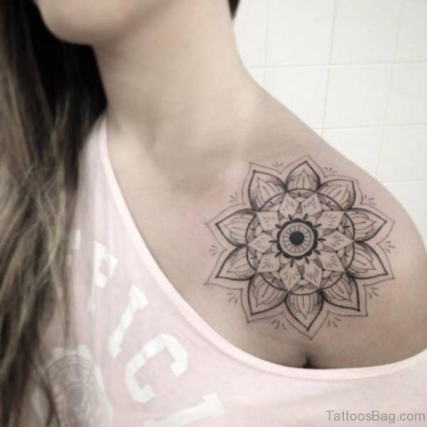 Good Looking Mandala Tattoo On Shoulder