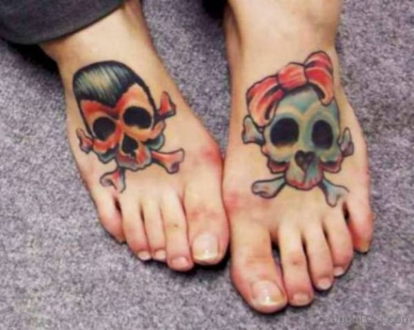 Good Looking Skull Tattoo