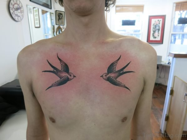 Good Looking Swallow Tattoo