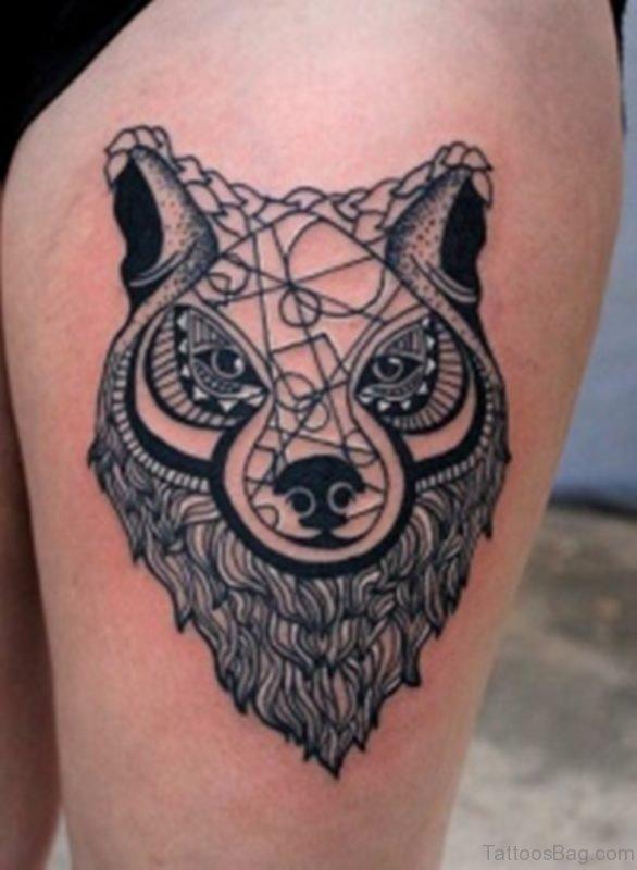 Good Looking Wolf Tattoo