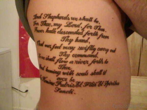 Good Looking Wording Tattoo