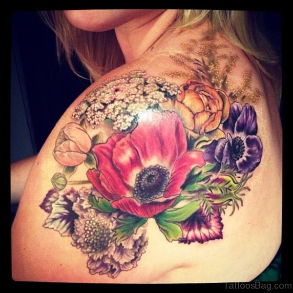 Gorgeous Colorful Tattoo On Shoulder