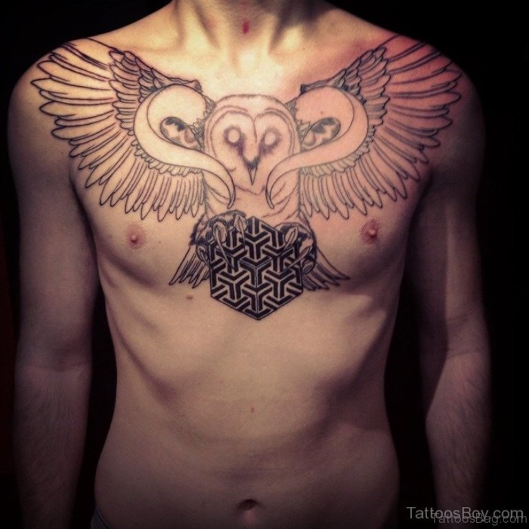 Bee tattoo on chest