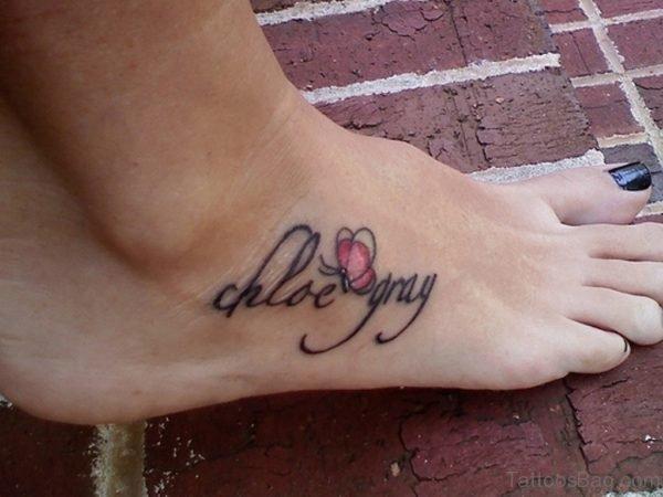 Gorgeous Wording Tattoo