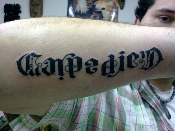 Graceful Ambigram Tattoo On Arm