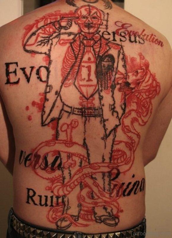 Graceful Back Tattoo