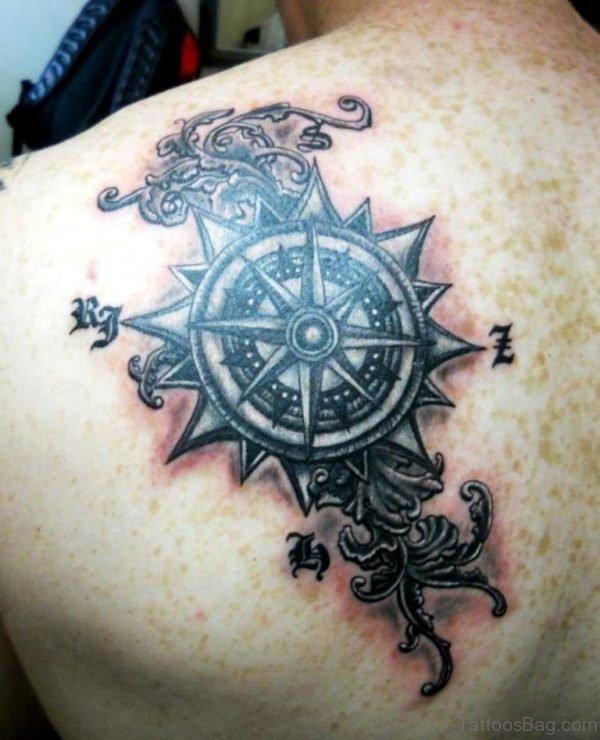 Graceful Compass Tatto