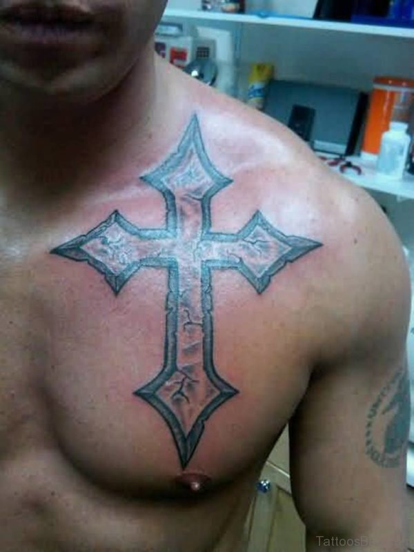 Graceful Cross Tattoo