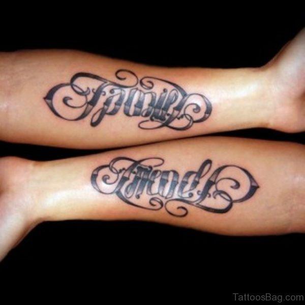 Graceful Family Tattoo On Wrist
