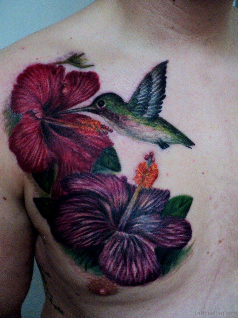 Hummingbird Flower Tattoos: 40 Pretty Hummingbird Tattoos For Chest
