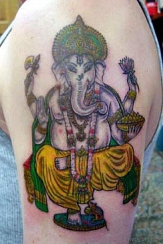 Graceful Ganesha Tattoo