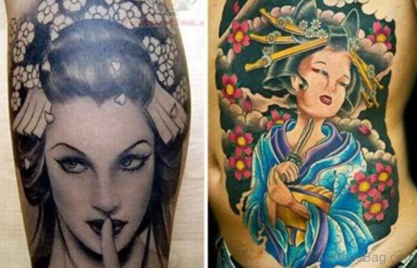 Graceful Geisha Tattoo