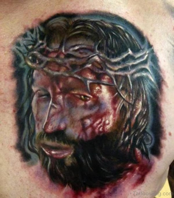 Graceful Jesus Portrait Tattoo
