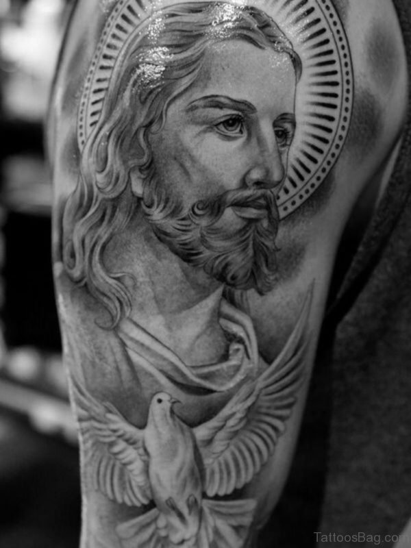 Graceful Jesus Tattoo Design