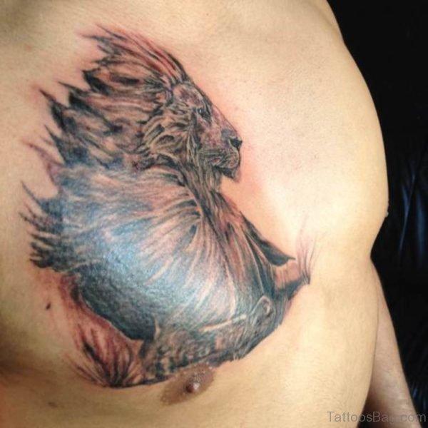 Graceful Lion Tattoo Design