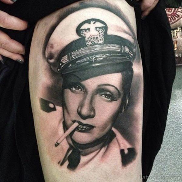 Graceful Portrait Tattoo