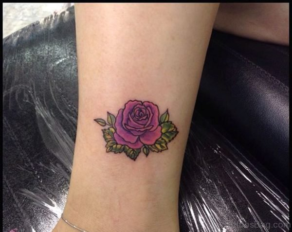 Graceful Rose Tattoo Design