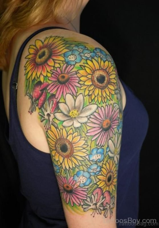 Graceful Sunflower Tattoo