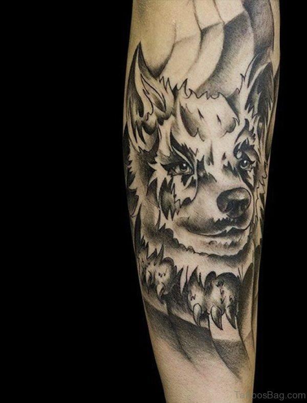 Graceful Wolf Tattoo