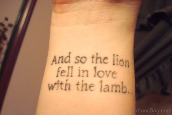 Graceful Wording Tattoo