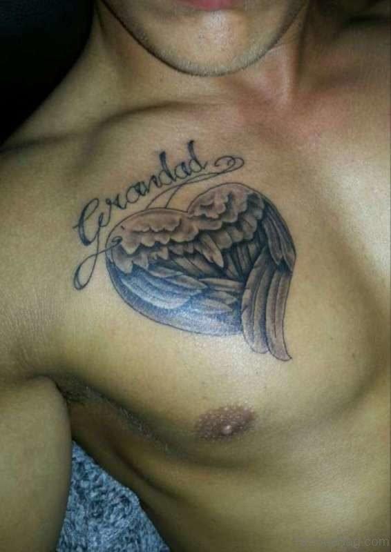 Grandad Tattoo On Chest