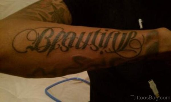 Great Ambigram Tattoo