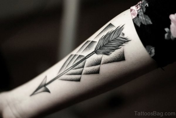 Great Arrow Tattoo Design On Arm