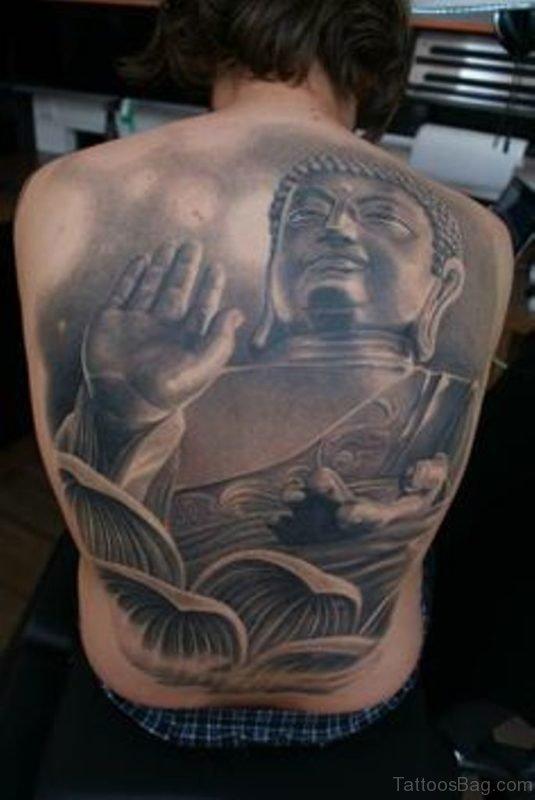 Great Buddha Tattoo For Back