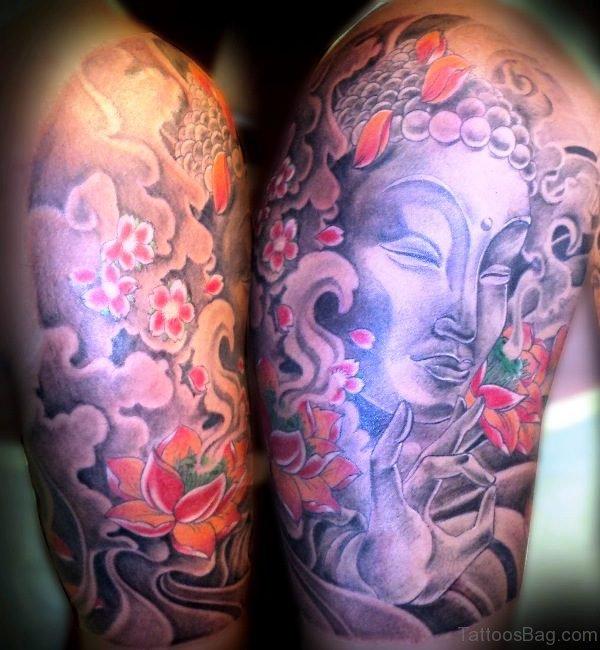 Great Buddha Tattoo Full Sleeve