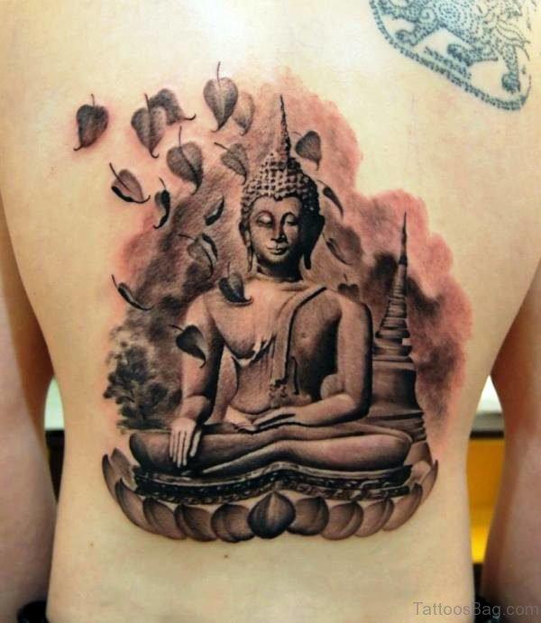 Great Buddha Tattoo On Back