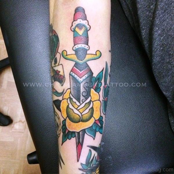 Great Dagger Tattoo Design