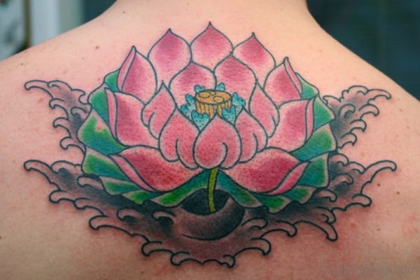 Great Japanese Lotus Flower Tattoo