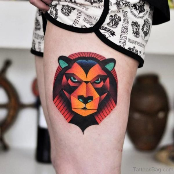 Great Lion Tattoo Design