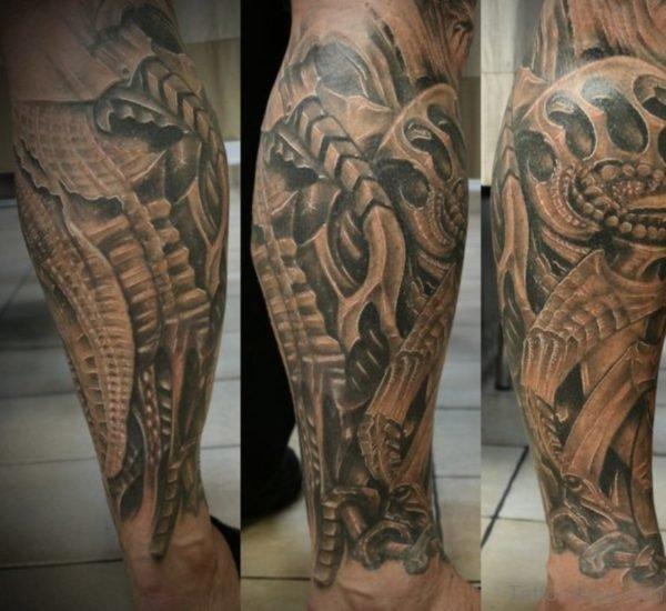 Great Loking Biomechanical Tattoo