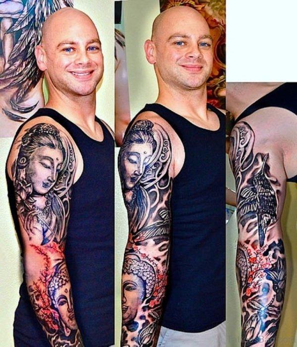 Great Looking Buddha Tattoo
