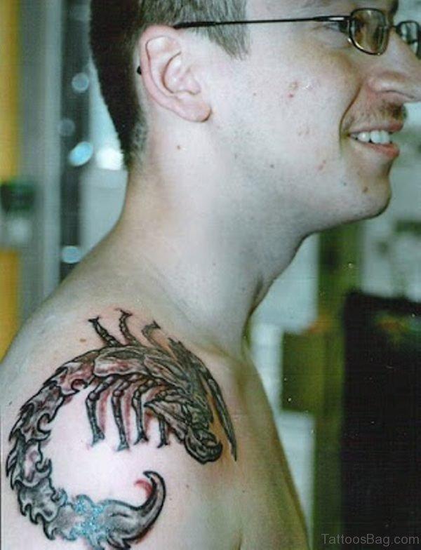 Great Looking Scorpion Tattoo
