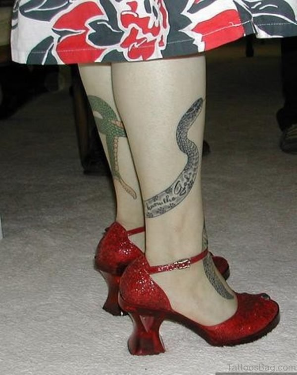Great Looking Snake Tattoo