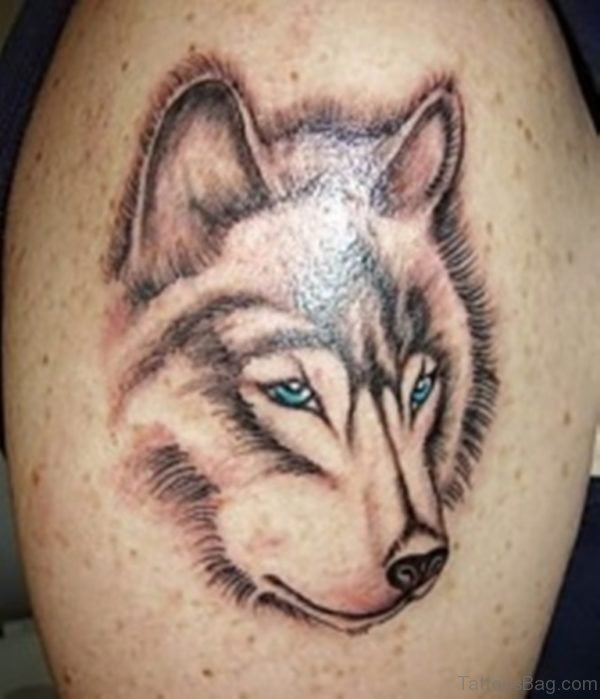 Great Looking Wolf Tattoo
