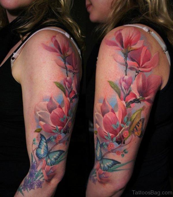Great Magnolia Tattoo Design