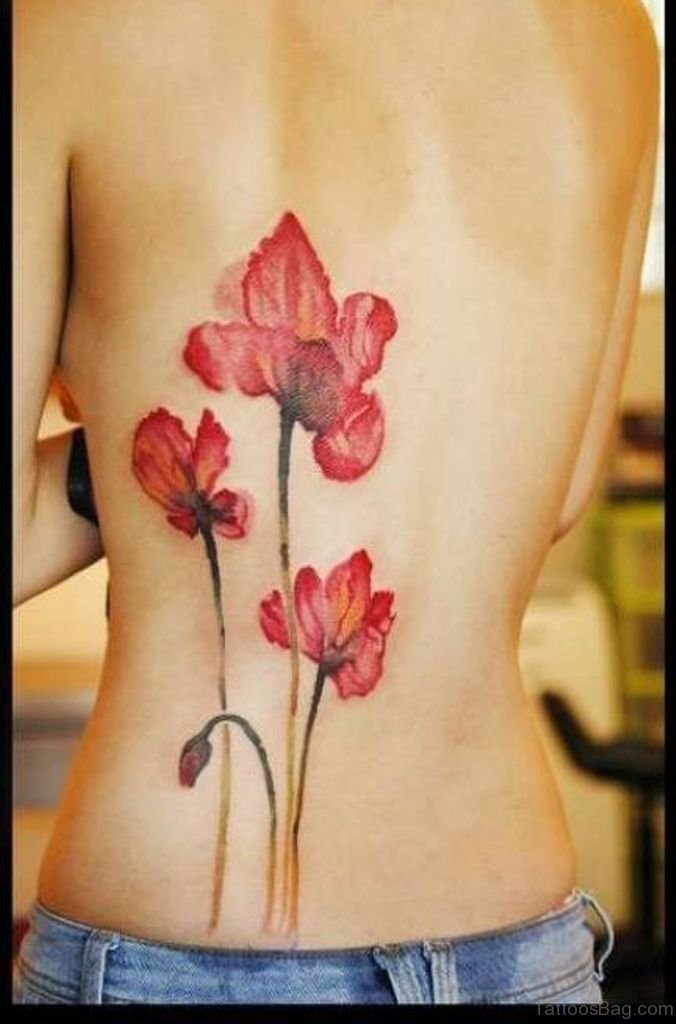 54 great magnolia tattoos for back for Full lower back tattoos