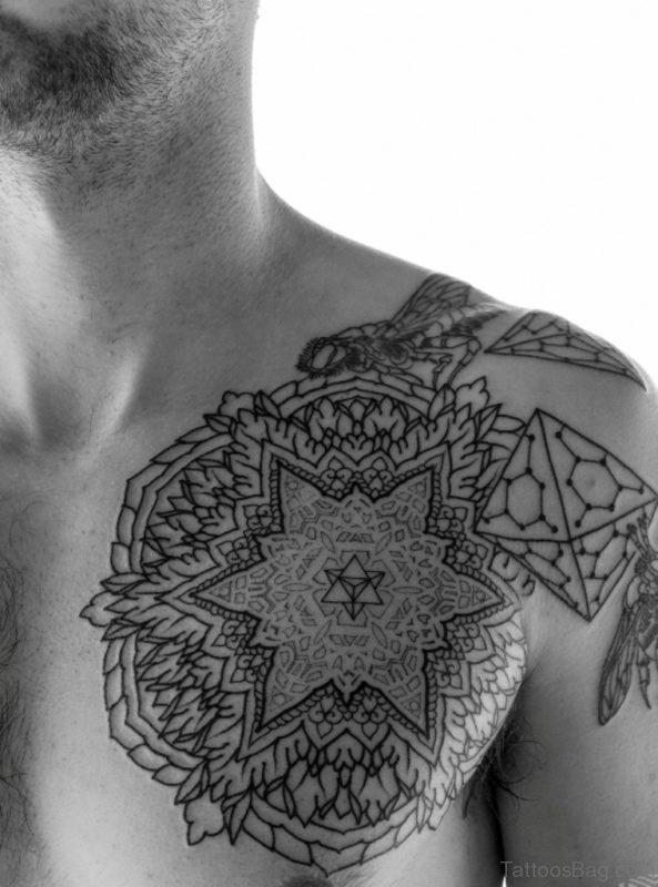 Great Mandala Tattoo On Chest