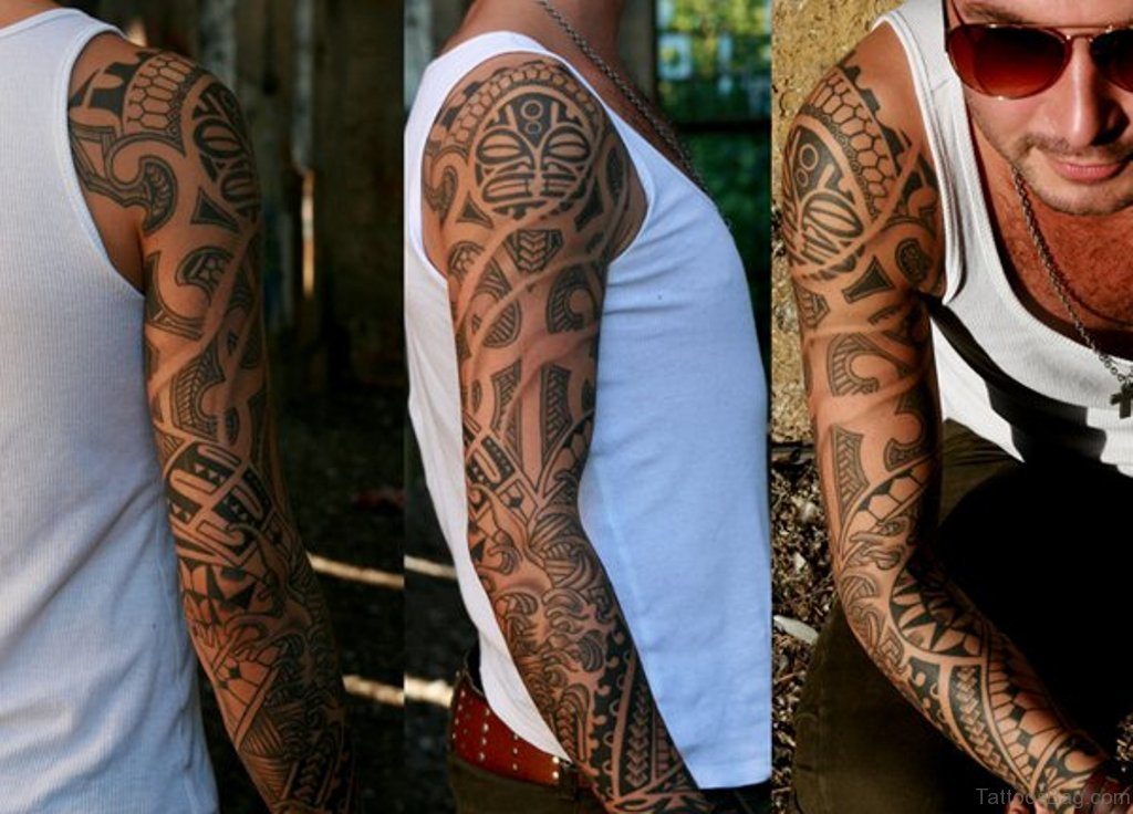 Maori Full Body Tattoo For Men: 56 Maori Tattoo Designs On Full Sleeve