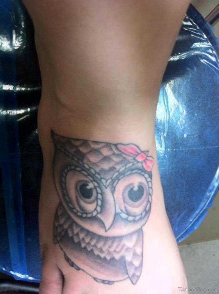 55 impressive owl tattoos on foot