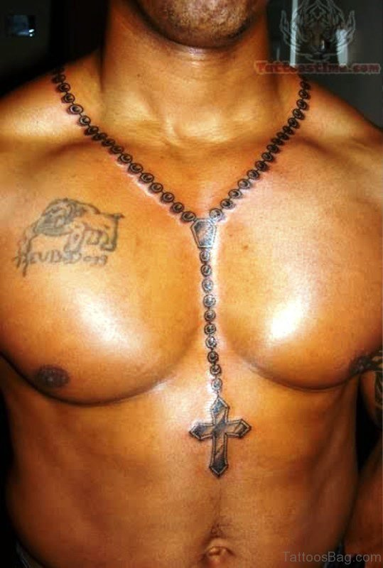 Great Rosary Tattoo On Neck