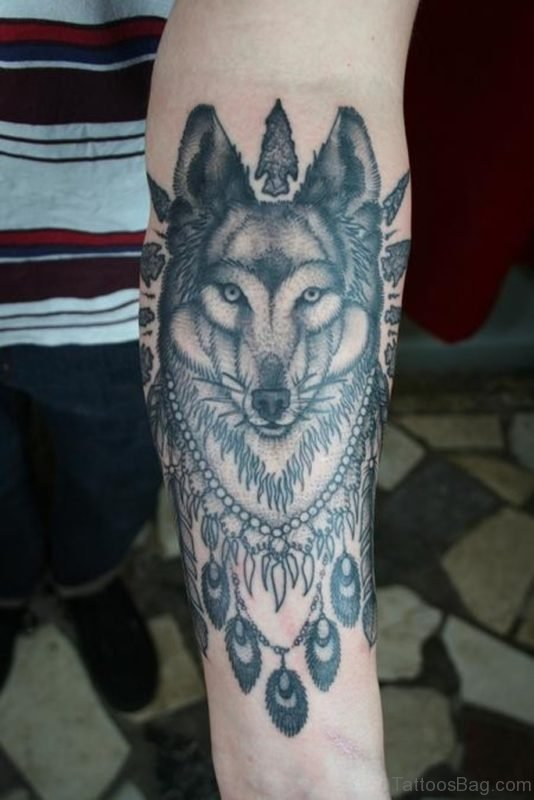 Great Wolf Tattoo On Arm