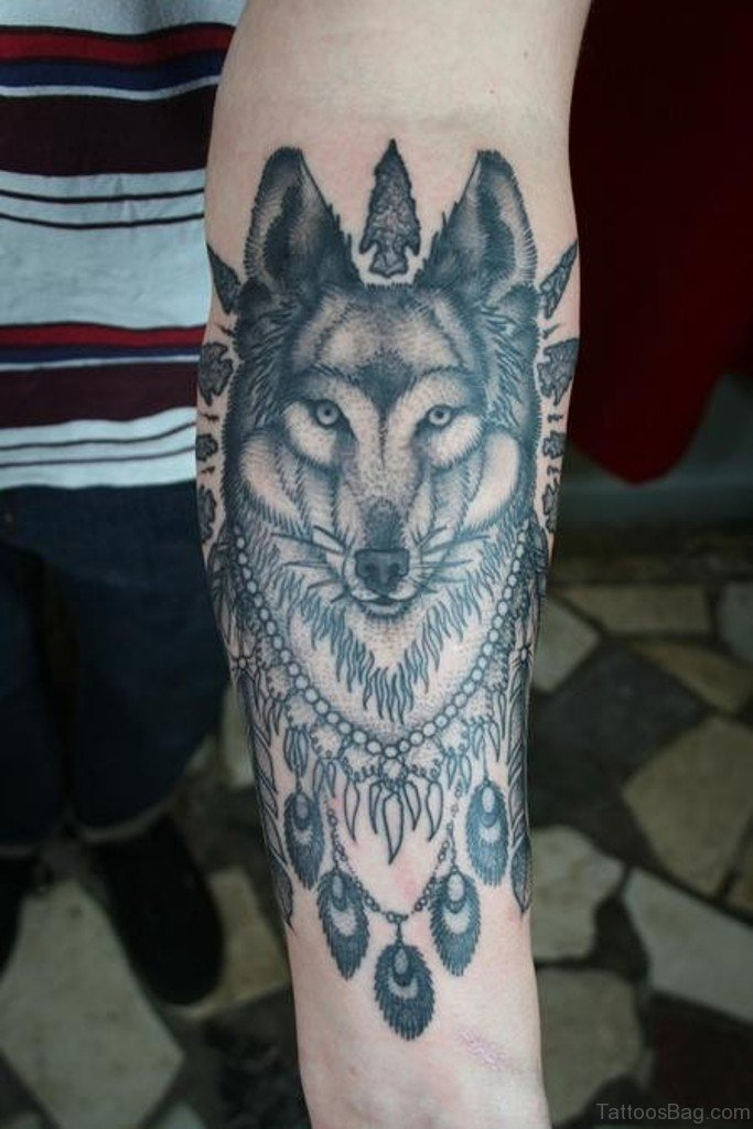 b94f7d225 50 Exclusive Wolf Tattoos For Arm